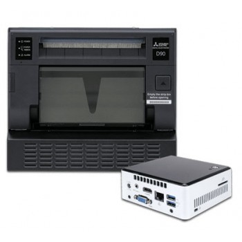 Mitsubishi CP-D90DW and SelFone Wireless Print Station Bundle